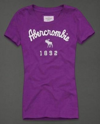 Abercrombie and Fitch 1892 Women Violet T-shirt Large 3