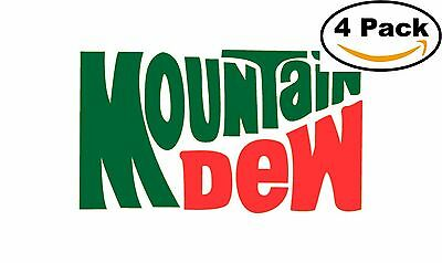 Mountain Dew Soft Drink Vintage Decal Diecut Sticker 4 Stickers