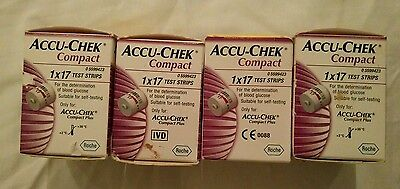 Accu-Chek Compact Test Strips Pack of 17 X 4