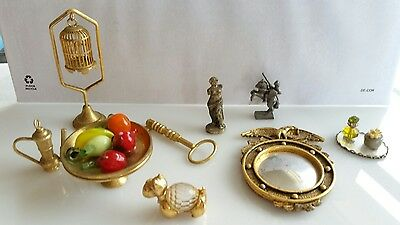 Vintage Brass & Metal Miniatures Lot of 9