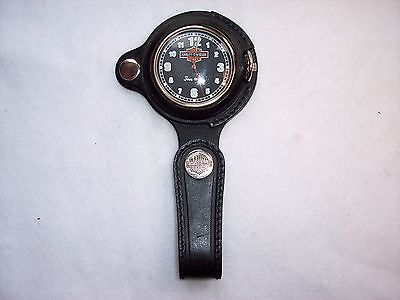 Harley Davidson Collectible Pocket Watch With Leather FOB