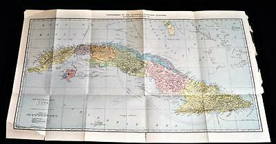 The National Geographic Society Map Of Cuba 1906 Vintage C.s. Hammond
