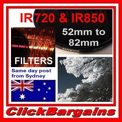 IR INFRARED IR720 IR850 IR950 CAMERA LENS FILTER INFRA RED for CANON NIKON etc.