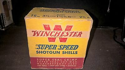 Vintage WINCHESTER Super Speed 16 GA Shotgun Shells Empty Advertising Box