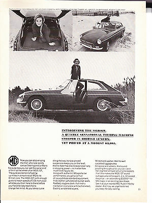 Original Print Ad-1966 Introducing the MGB/GT-Steeped in British Luxury   $3095