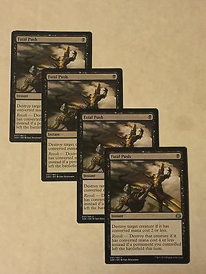Magic The Gathering MTG Aether Revolt Fatal Push X4 Black Uncommon