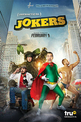 """Impractical Jokers Poster 48x32"""" 36x24"""" 21x14"""" Reality TV Series New Large Silk"""