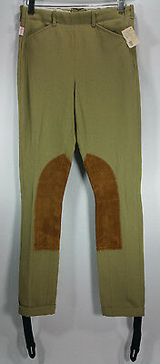 NEW TAILORED SPORTSMAN Breeches Jodhpurs #3943 Girls 14R Beige Royal Hunter Cuff
