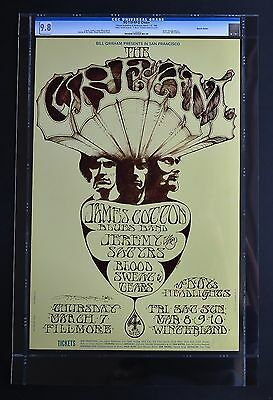 Fillmore Poster BG 110-RP-2: Cream CGC Grade 9.8 Signed by Mouse & Kelley