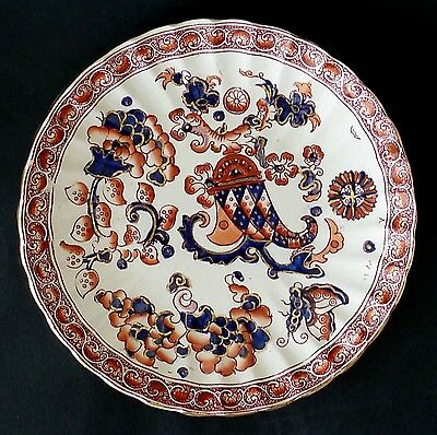 ANTIQUE display wall serving PLATE Fielding IMARI GLAZE COLOURS hand painted