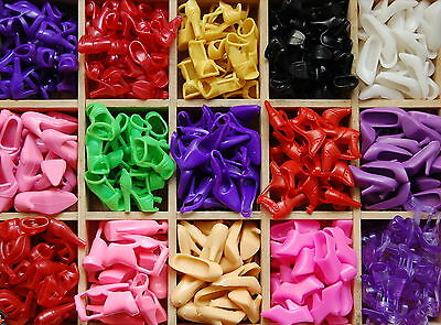40 Pairs Barbie Shoes for Barbie Doll / Barbbie girl / Barby - Mix color