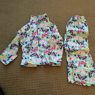 Size 4 Winter Flannelette Pyjamas Girls Butterflies & Long Sleeve Tops Bulk