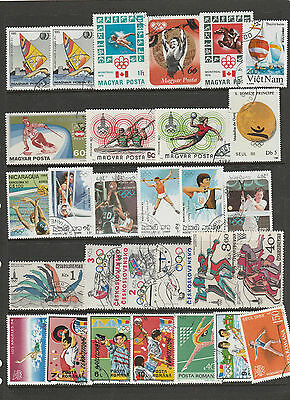 Olympic Games. 63 International Stamps Depicting Olympic Games Used  Stamps.
