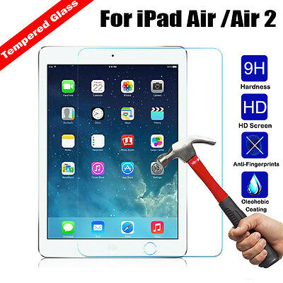 Genuine Premium Tempered Glass Film Screen Protective For Apple iPad Air / Air 2