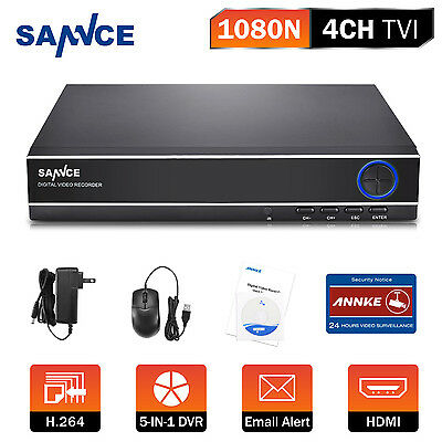 SANNCE 4CH 1080N 4IN1 DVR HDMI Home Security System VGA Remote APP Motion NO HDD