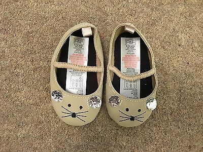 F&F Baby Girl Beige Mouse Shoes - 6-12 Months