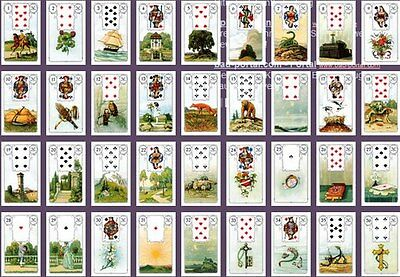 Deck Of Cards Lenormand Oracle 36 Tarot Divination Fortune Telling Cartomancy