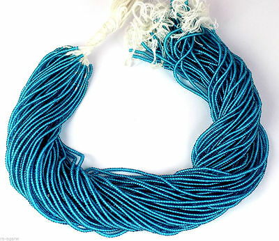 """20 Strand Stabilized Apatite Hydro Seed Rondelle 2-2.5mm 12.5"""" Long Smooth Beads"""