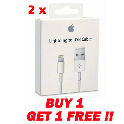 2X Genuine Quality Sync & Charger USB Data Cable For iPhone 6S 55C 5S iPad 4 Air