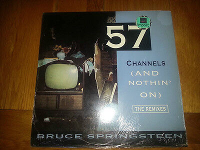 """Bruce Springsteen 57 Channels (And Nothin' On) The Remixes Vinyl 12"""" Single"""