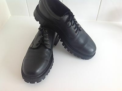 Mens Windsor Smith Lace Up Black Leather Shoes Size 10.1/2