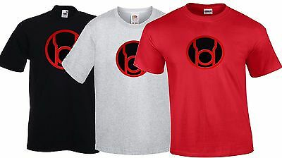 Red Lantern DC Comics Super Hero Movie logo,T Shirt ROCK N ROLL