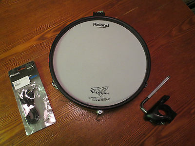 """Roland PD-125 BK 12"""" Mesh Head V Drum PD125 - BLACK - WITH CLAMP AND CABLE"""