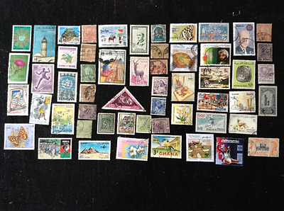 AFRICA 240 DIFFERENT USED STAMPS OFF PAPER PERIOD 20th and 21st Century