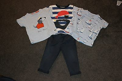 Next boys outfit chinos x3 t-shirts nautical 9-12 months