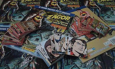 ZAGOR - Panini 2016 - Figurine/Stickers SET COMPLETO + SET CARDS