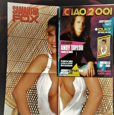 Ciao 2001 n° 14 - 1987 - Samantha Fox poster  / Cult / Eurythmics