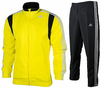 914dd3894cc9 Adidas Men s Full Zip Basic Tracksuit Track Jacket Pants Yellow   Graphite  S M