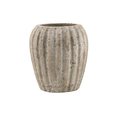 Crete Clay Pot with Grooves Danish Design by Ib Laursen