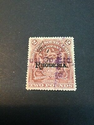 British South Africa Company Rhodesia Overprints Fiscal (s934)