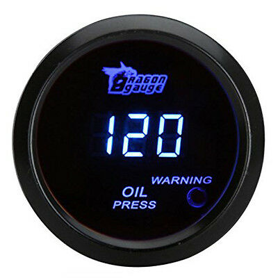 52mm 2.0 inch LCD 0~120PSI Auto Car Digital Oil Pressure Meter Gauge +Light W3O5