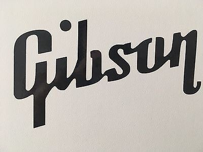 Gibson Guitar Logo Vinyl Decal Sticker