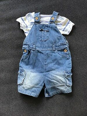 mothercare Baby Boy Dungaree Set 3-6 Months