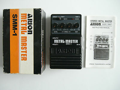 Arion SMM-1 Stereo Metal Master Effects Pedal - boxed with instructions