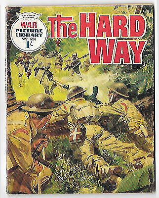 """War Picture Library 524 (1969) """"The Hard Way""""  high grade copy"""