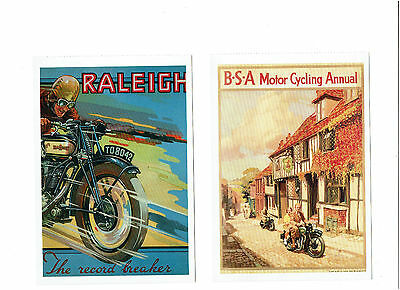 2 X Motorcycle Postcards - Raleigh / Bsa