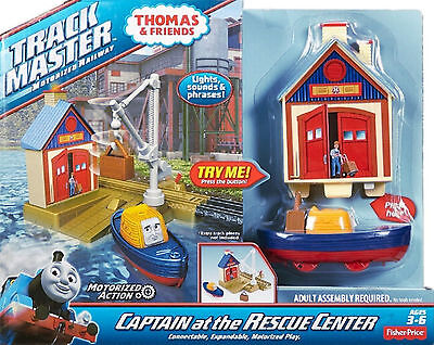 Thomas And Friends Track Master Motorized Railway Captain At Rescue Centre Set