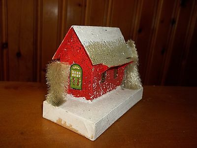 Vintage 60's Christmas  Putz House Made In Japan