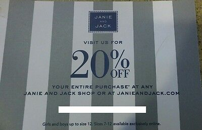JANIE AND JACK ---( 20% OFF )--- Your Entire Purchase - Code Expires 5-9-2017