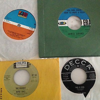 LOT OF 4 SOUL 45s inc JEWEL AKENS,MALCOLM DODDS,DAVID JONES,TRAMMPS