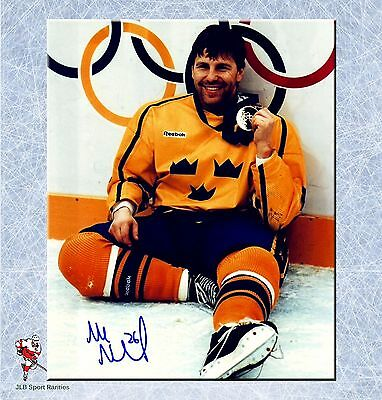 Mats Naslund Team Sweden Olympic 1994 Autographed 8 x 10 Photo