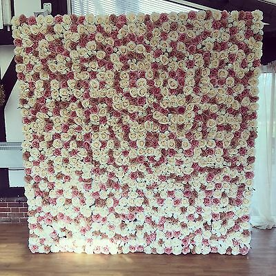 'Milly' Artificial Flower Wall Panels Wedding - Mink & Champagne - UK Supplier