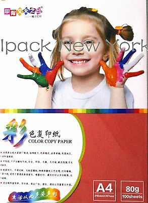 100 sheet A4 colored copy paper red color