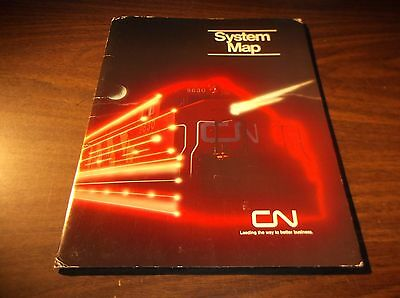 1985 Canadian National Railway System Map