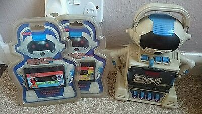 Vintage Tomy 2-XL Robot Toy Tape Deck Tiger Electronics tested and working