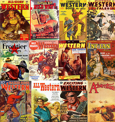 Pulp Western Magazines 40 Golden Age Issues (80-195 pages) on DVD Disk 1